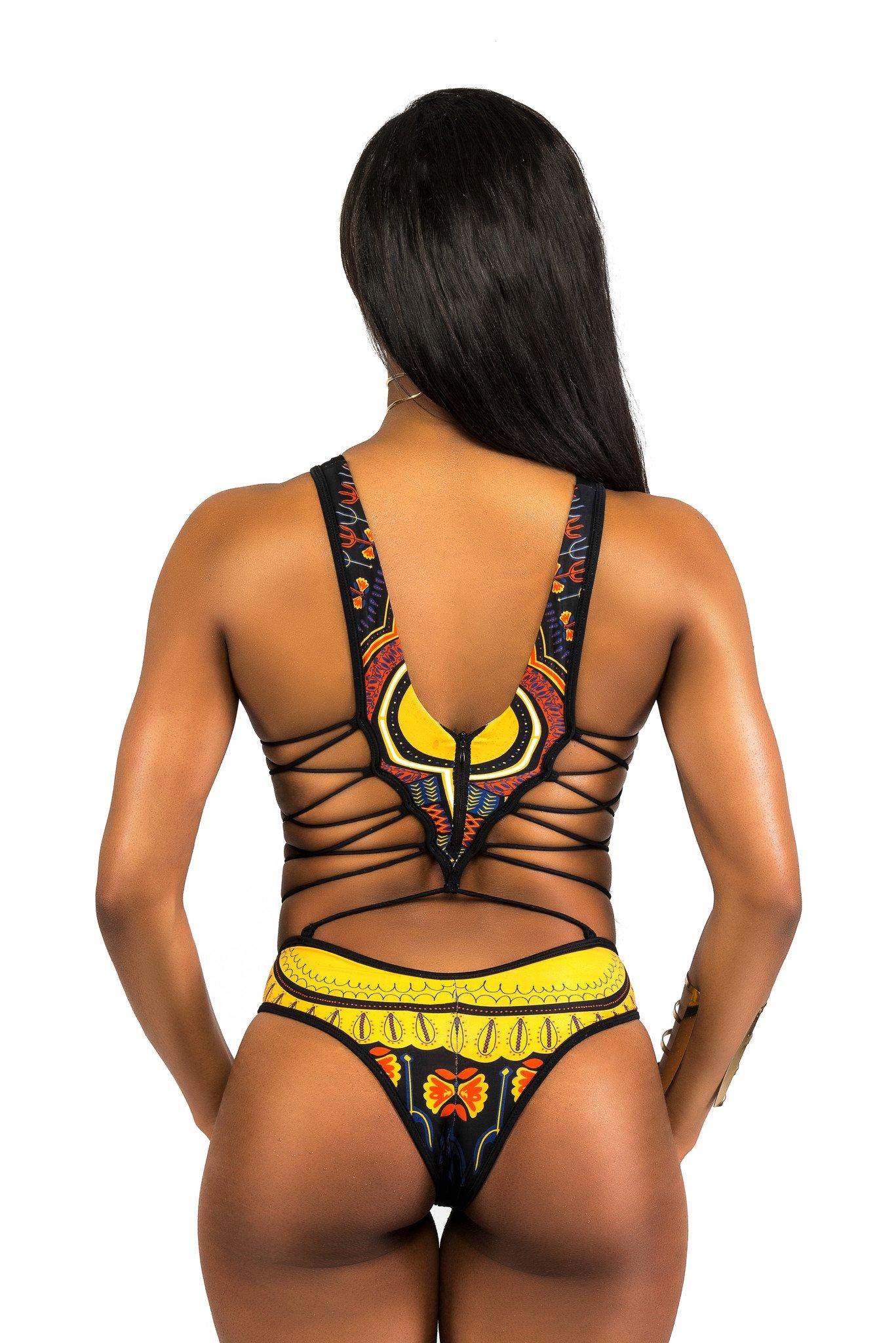 Sexy Bikini African Beauty Clubwear Swimsuit One Piece