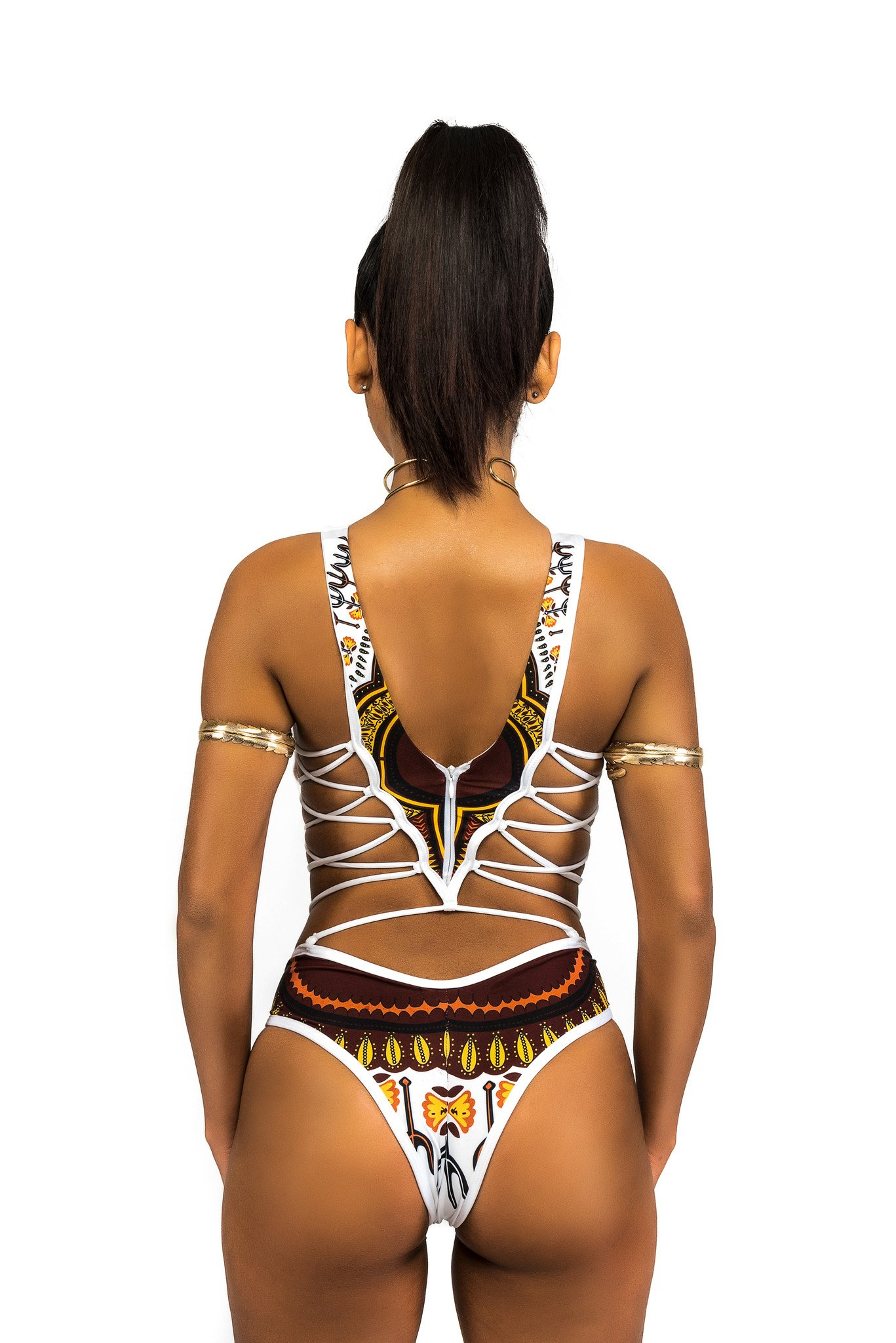 Sexy Bikini African Beauty Clubewear Swimsuit One Piece