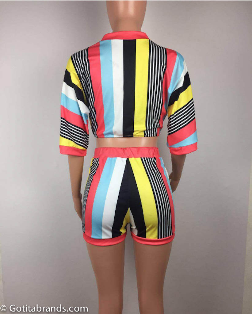 short sets for womens  new sexy outfits  deep stripes v