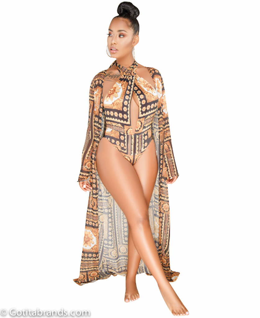 6b616468c31 Barocco Print Dresses – New Stylish Design – Swimsuit and Cover Up Sets ...