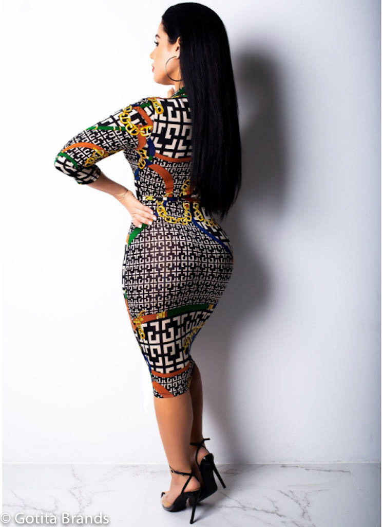 Fabulous Trendy Party Outfit Long Sleeves Bodycon Dress