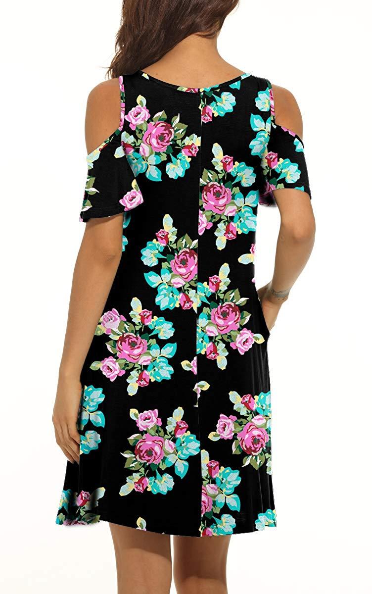 purple navy summer dress - short sleeve loose fit